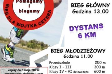 Fundacja Złotowianka- Tarnówczyński bieg dla Wojtka